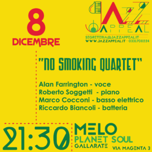 No Smoking Quartet Jazz Appeal