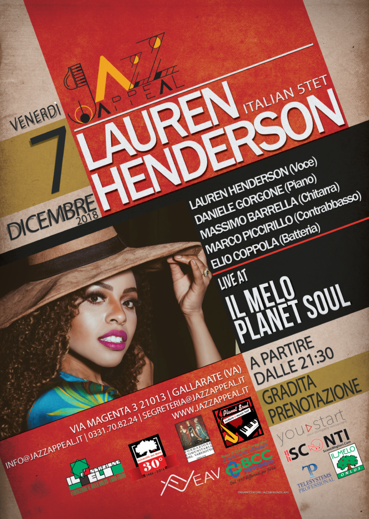 Lauren Henderson Jazz Appeal Gallarate