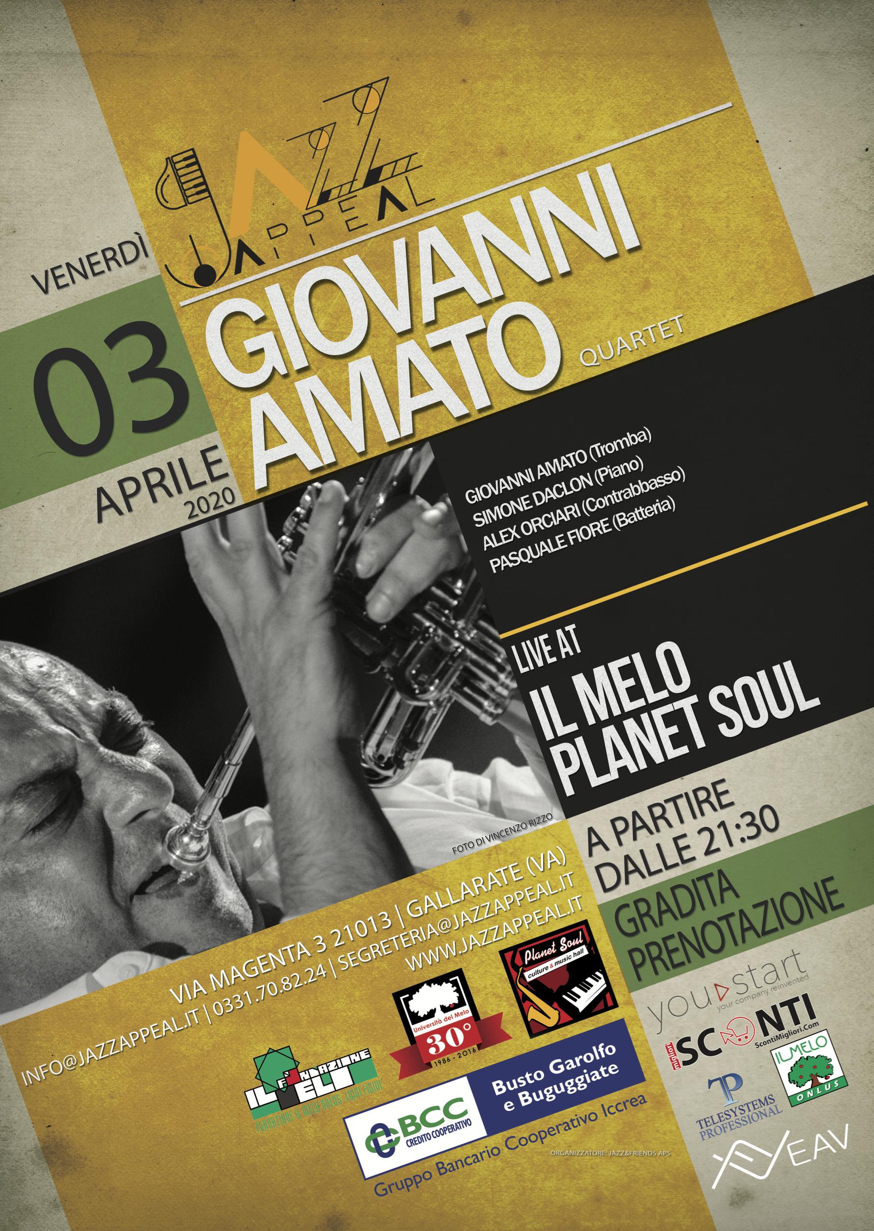 Giovanni Amato quartet Jazz Appeal